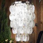 Anywhere Shimmer Chandelier - Large Oval White