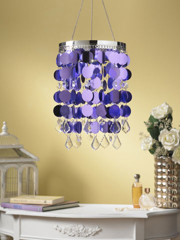 Anywhere Shimmer Chandelier - Purple - Click to enlarge