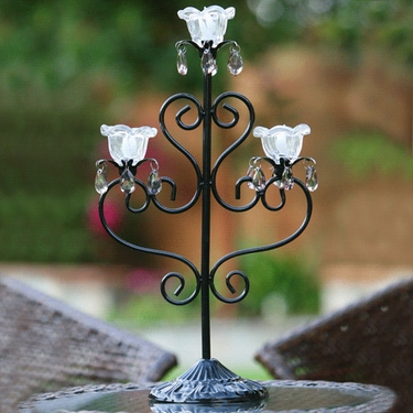 Anywhere Triple Flame Candelabra - Black - Click to enlarge