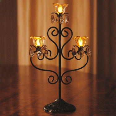 Anywhere Triple Flame Candelabra - Bronze - Click to enlarge