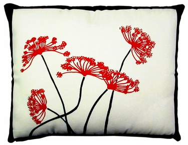 Asian Flowers 2 Outdoor Pillow - Click to enlarge