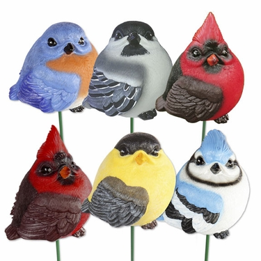 Audubon Resin Bird Stakes (Set of 6) - Click to enlarge