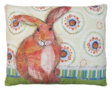 Background Bunny Outdoor Pillow - Click to enlarge