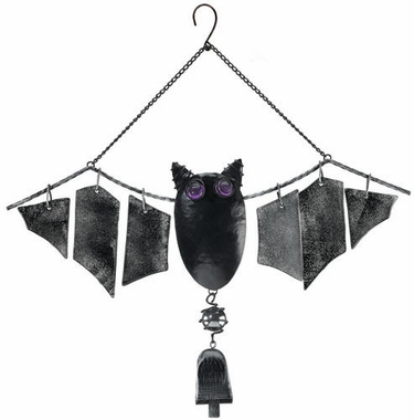 Bat Bell Glass Wind Chime - Click to enlarge