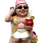 Beach Babe Gnome