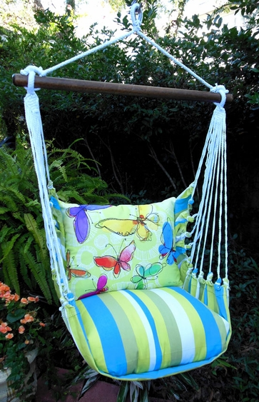 Beach Boulevard Butterflies Hammock Chair Swing Set - Click to enlarge