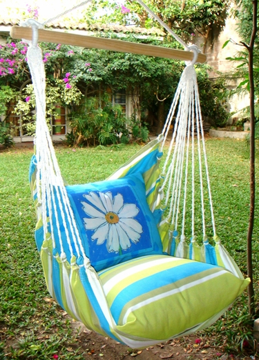 Beach Boulevard Daisy Hammock Chair Swing Set - Click to enlarge