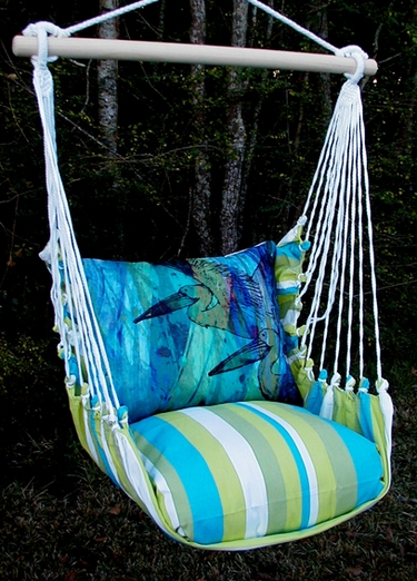 Beach Boulevard Pelicans Hammock Chair Swing Set - Click to enlarge