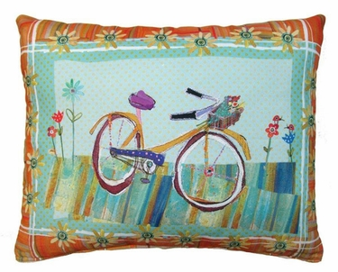 Bicycle Ride 1 Outdoor Pillow - Click to enlarge