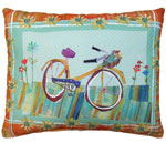 Bicycle Ride 1 Outdoor Pillow