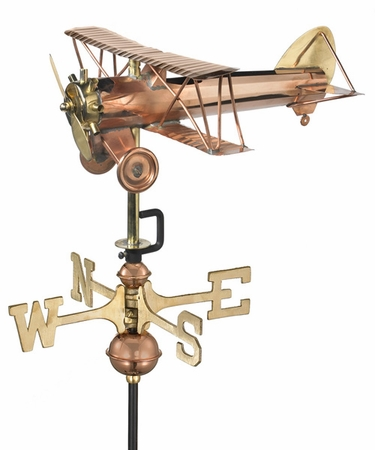 Biplane Weathervane - Click to enlarge