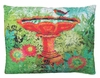Bird Bath Outdoor Pillow