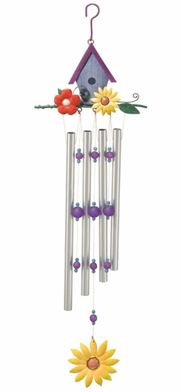 Birdhouse Wind Chime - Click to enlarge
