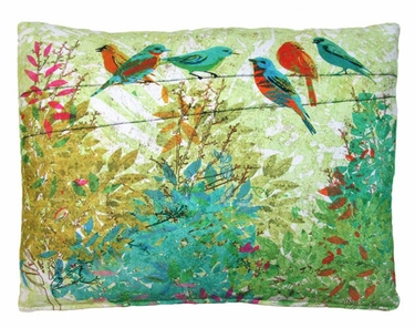 Birds on Wire Outdoor Pillow - Click to enlarge