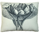 Black Lotus Outdoor Pillow