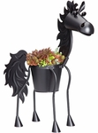 Black Stallion Horse Planter