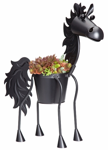 Black Stallion Horse Planter - Click to enlarge