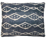 Blue Batik Outdoor Pillow