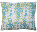Blue Bejeweled Outdoor Pillow