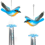 Bluebird Hanging Wind Chimes (Set of 2)