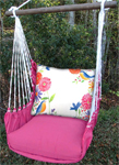 Blue Birds Garden Hammock Chair Swing Set