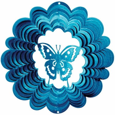 Blue Butterfly Wind Spinner - Click to enlarge
