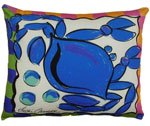 Blue Crab Outdoor Pillow