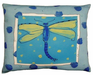 Blue Dragonfly Outdoor Pillow - Click to enlarge