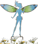 Small Blue Fairy Stakes (Set of 4)