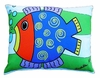 Blue Fish Outdoor Pillow