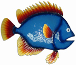 Blue Fish Wall Decor