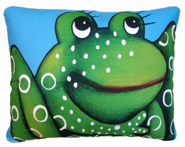 Blue Frog Outdoor Pillow - Click to enlarge
