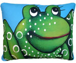 Blue Frog Outdoor Pillow