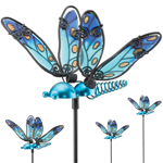 Blue Glass Dragonfly Picks (Set of 6)