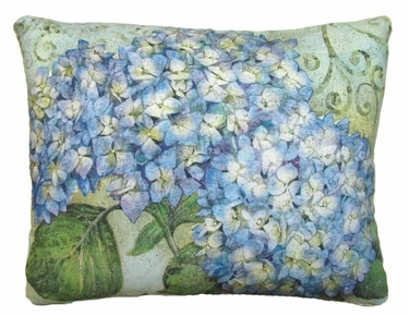 Blue Hydrangea Outdoor Pillow - Click to enlarge