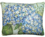 Blue Hydrangea Outdoor Pillow