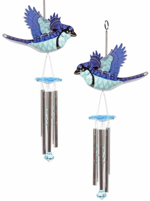 Blue Jay Wind Chimes (Set of 2) - Click to enlarge