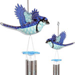 Blue Jay Wind Chimes (Set of 2)