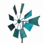 Blue Metal Windmill