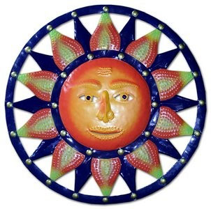 Blue Orange Sun Wall Decor - Click to enlarge
