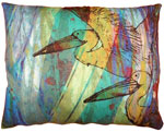Blue Pelicans Outdoor Pillow