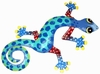 Blue Spotted Gecko Wall Decor
