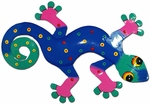 Blue Teal Gecko Wall Decor
