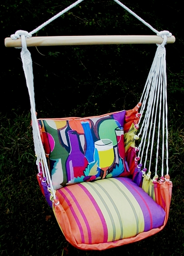 Bon Temps Wine Bottles Hammock Chair Swing Set - Click to enlarge