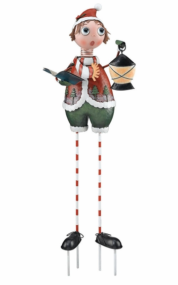 Boy Caroler Garden Decor - Click to enlarge