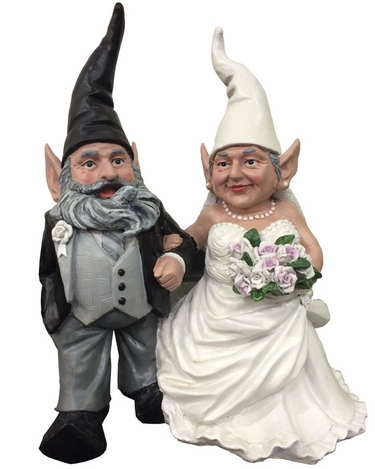 Bride & Groom Gnome Set - Click to enlarge