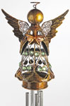 Bronze Angel w/Star Wind Chime
