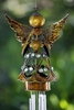 Bronze Angel w/Heart Wind Chime