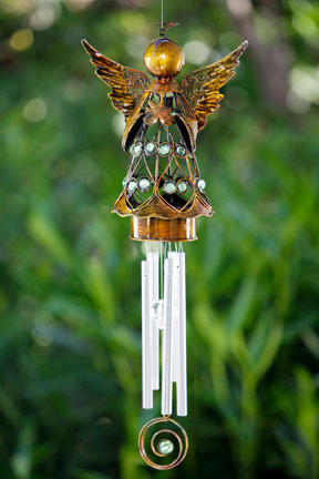 Bronze Angel Wind Chime - Click to enlarge