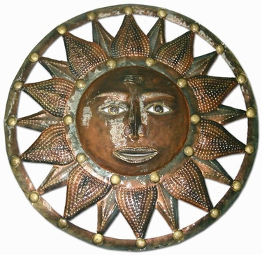 Bronze Sun Wall Decor - Click to enlarge